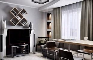 Дизайн проект трехкомнатной квартиры 70 кв.м.2