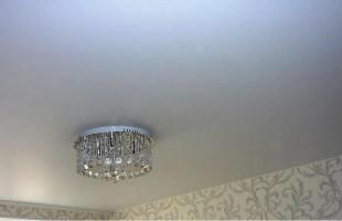 белый матовый натяжной потолок в раменское (7)
