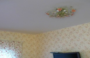 белый матовый натяжной потолок в раменское (8)