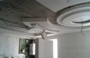фигурные потолки из гипсокартона в раменское (9)