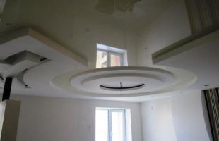 фигурные потолки из гипсокартона в раменское (15)