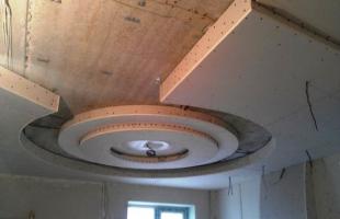 фигурные потолки из гипсокартона в раменское (8)