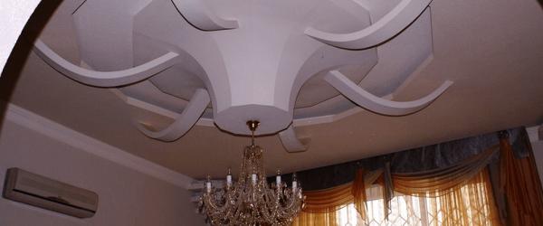 Многоуровневые потолки из гипсокартона в Раменское (9)