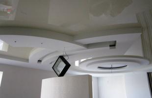 фигурные потолки из гипсокартона в раменское (2)