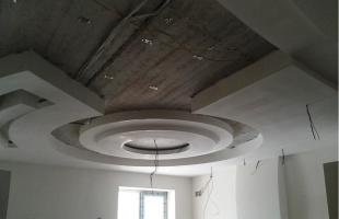 фигурные потолки из гипсокартона в раменское (7)